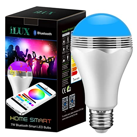 LE Bombilla LED inteligente con altavoz, 2 en 1 - luz y música en una