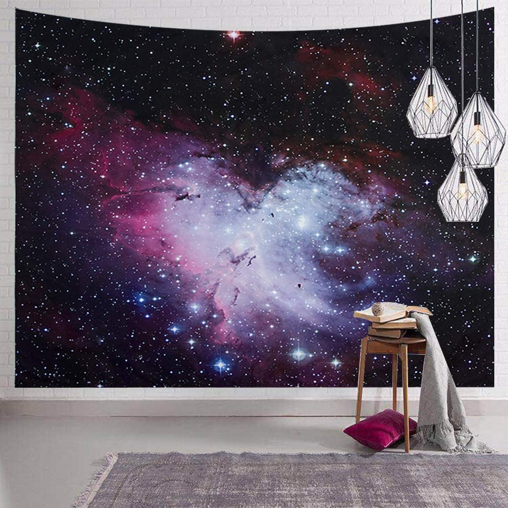 SENYYI Galaxy Stars Tapestry Wall Hanging Outer Space Tapestry Colorful Nebula Tapestry Night Sky Home Decor for Room (59.1 x 82.7 inches)