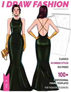 My Fashion Sketchbook Front And Back Figure Poses Croquis Templates For Designers Tinli Basak 9781718705500 Amazon Com Books