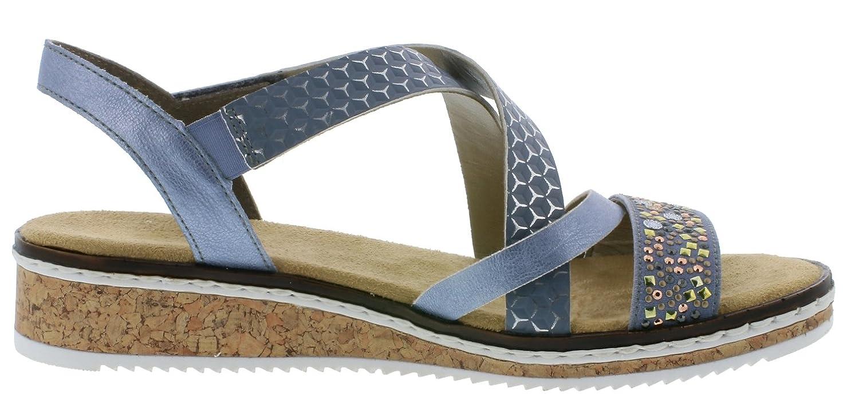 rieker, 7569019 Klassische Sandalen, blau