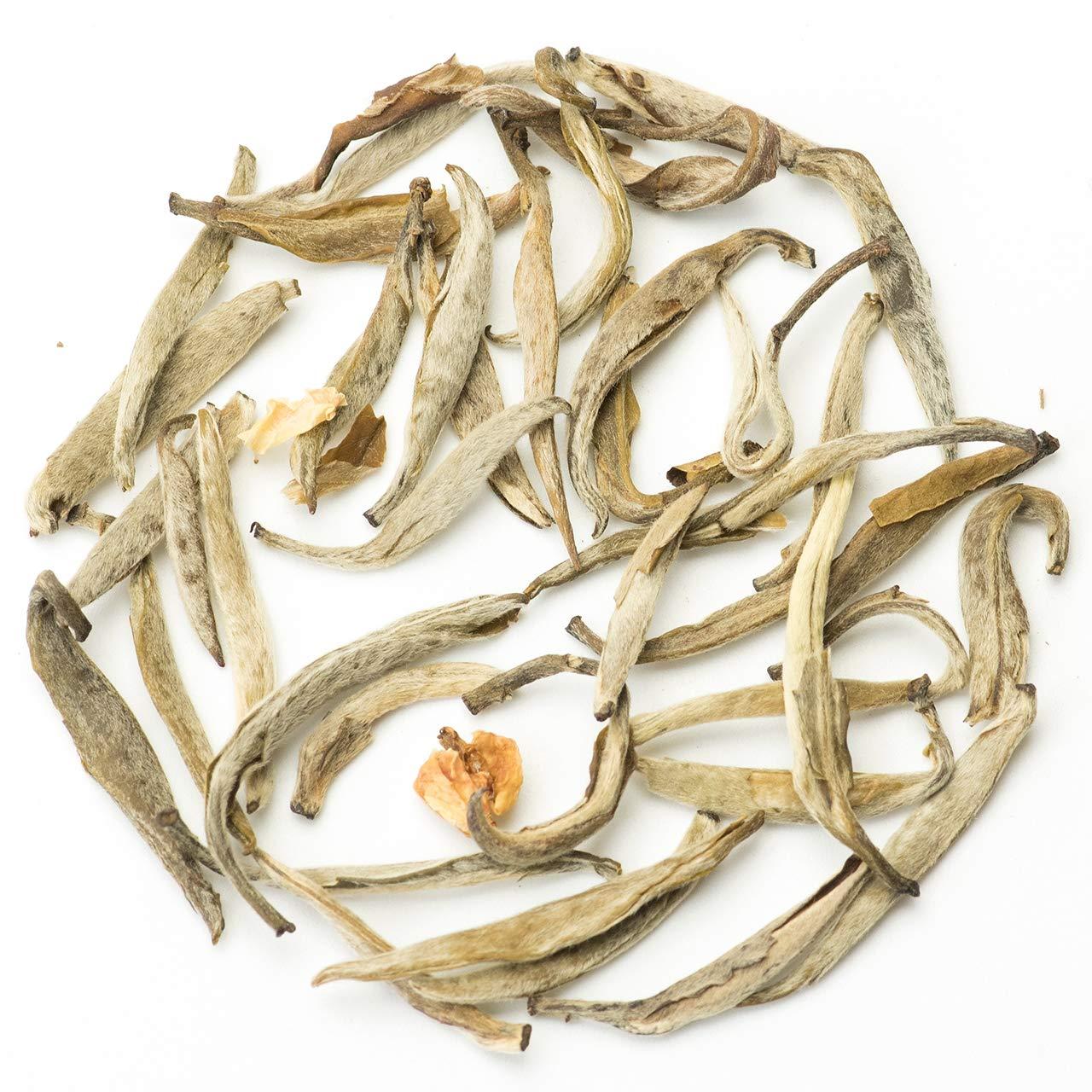 Teavivre Jasmine Silver Needle White Tea (Mo Li Yin Zhen) Loose Leaf Chinese Tea - 3.5oz / 100g