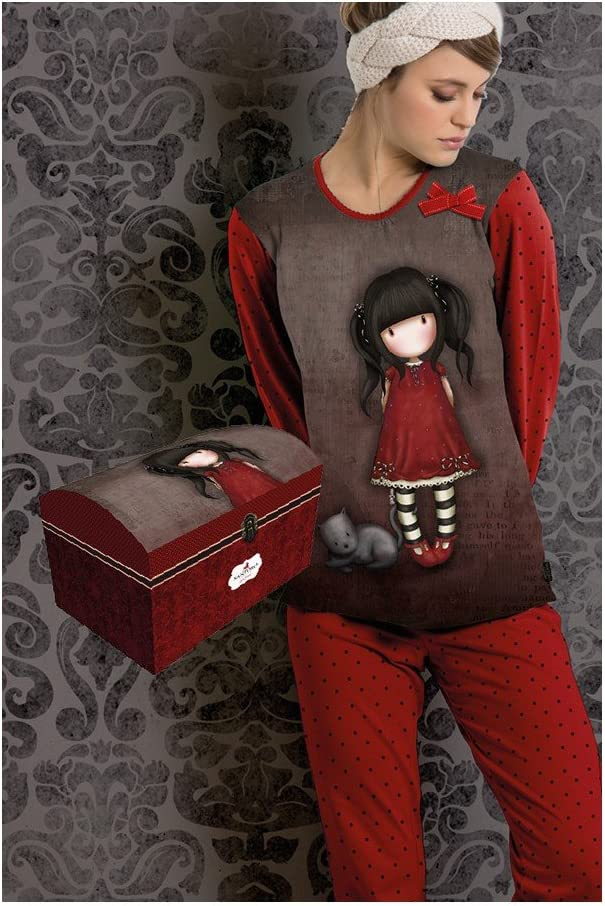 RUBY Pijama NIÑA Gorjuss Invierno con Baúl Talla 6 : Amazon ...