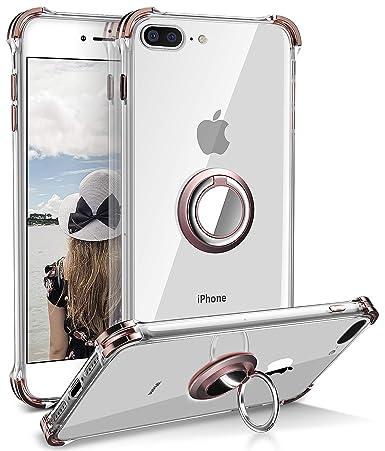Amazon.com: Daupin - Funda para iPhone 8 Plus, transparente ...