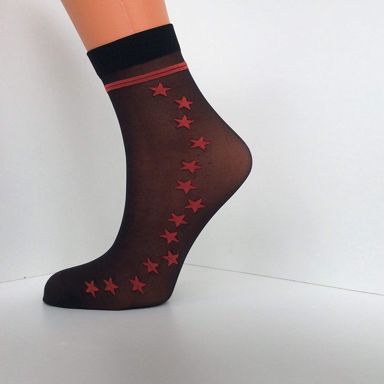 3 paia di calzini Calzini alla caviglia in nylon trasparente 20 denari Just for me
