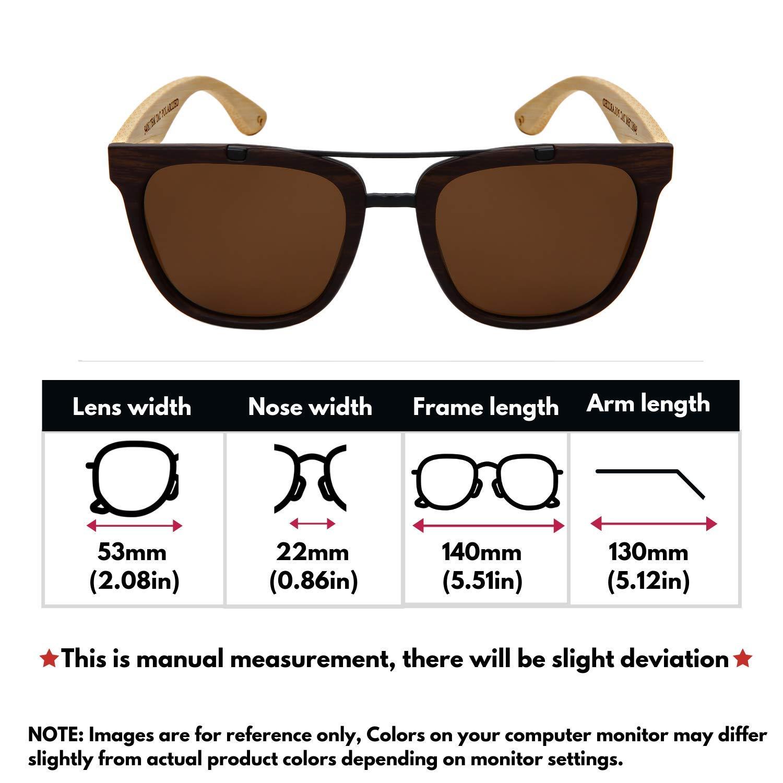 Amazon.com: Edge I-Wear 540817BM-P - Gafas de sol de madera ...