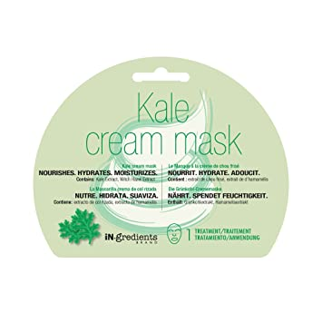 Amazon.com : iN.gredients Kale Cream Mask - Moisturizing, Cleansing, Exfoliating Pore Refiner for Dehydrated, Sensitive Skin - Made in Korea : Beauty
