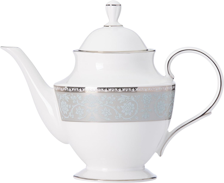 B01M6ZGZ3W Lenox 869638 Westmore Teapot, 2.85 LB, Blue 71hoFJEdb4L.SL1500_