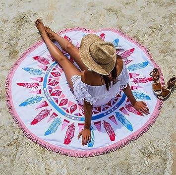 Toallas de playa redondas con estampado de verano Secado rápido con toalla de playa Tassel Circle,b: Amazon.es: Deportes y aire libre