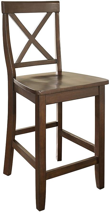 Amazoncom Crosley Furniture Cf500424 Ma X Back Bar Stool Set Of 2