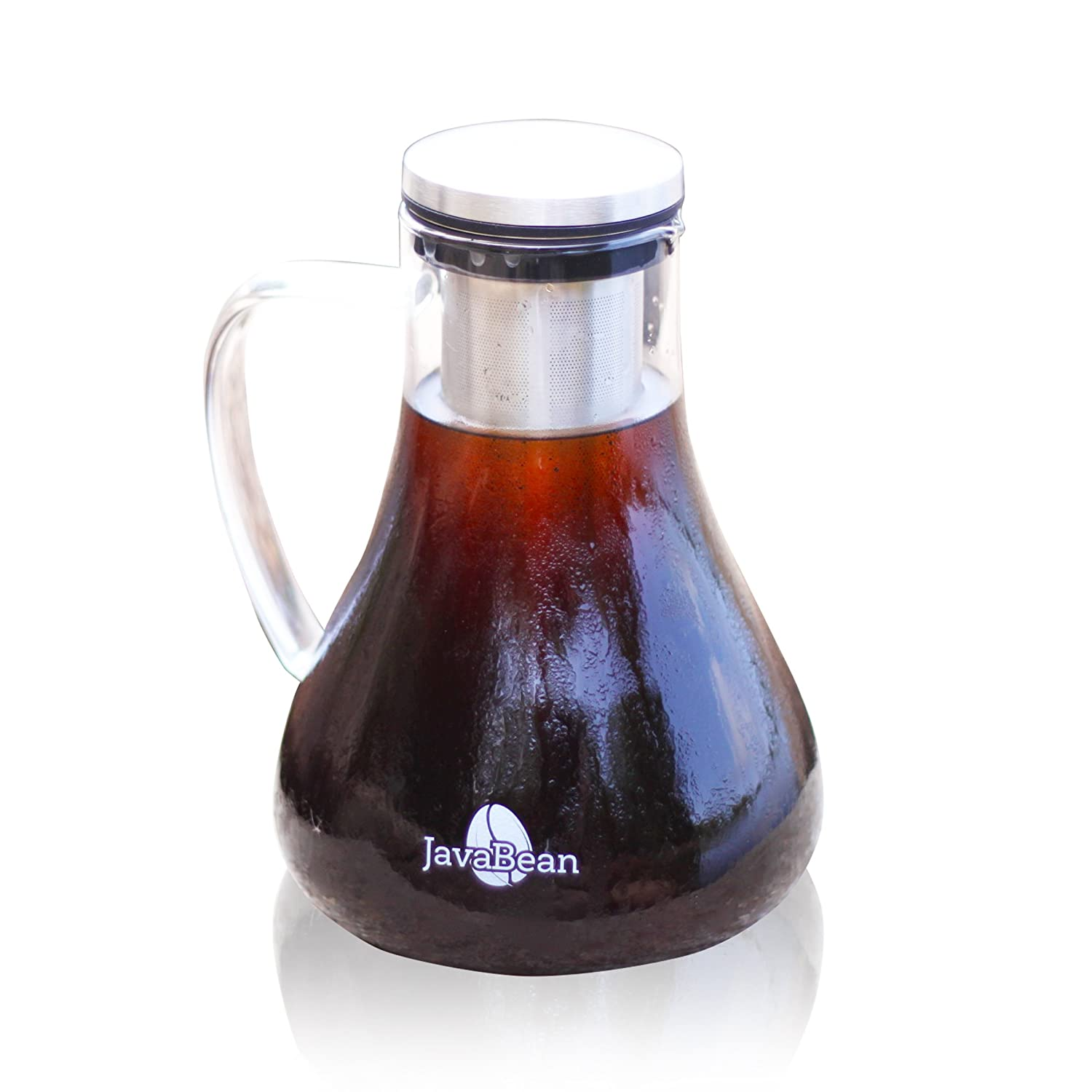 Cold Brew Coffee Maker - Best Cold Brew Coffee, Iced Tea & Fruit Infuser | Airtight System, Dishwasher Safe, Stainless Steel Laser Cut Filter | 1.5L/51oz Capacity