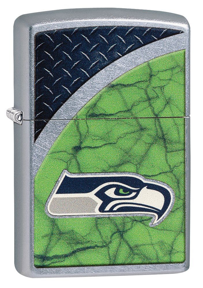 Zippo NFL Seattle Seahawks Street Chrome Pocket Lighter by Zippo