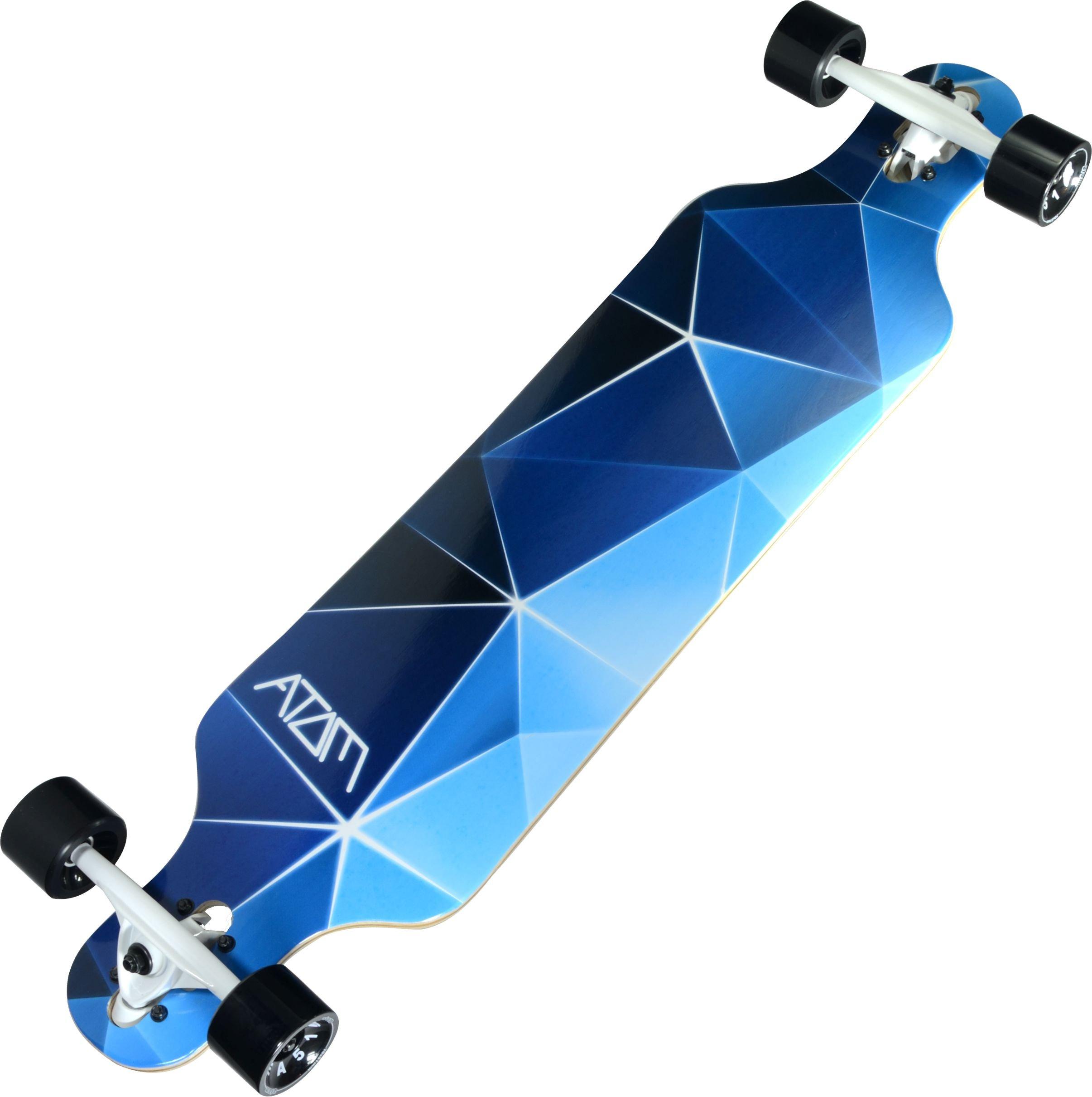 Atom Longboards Atom Drop Through Longboard - 40'' , Blue Geo