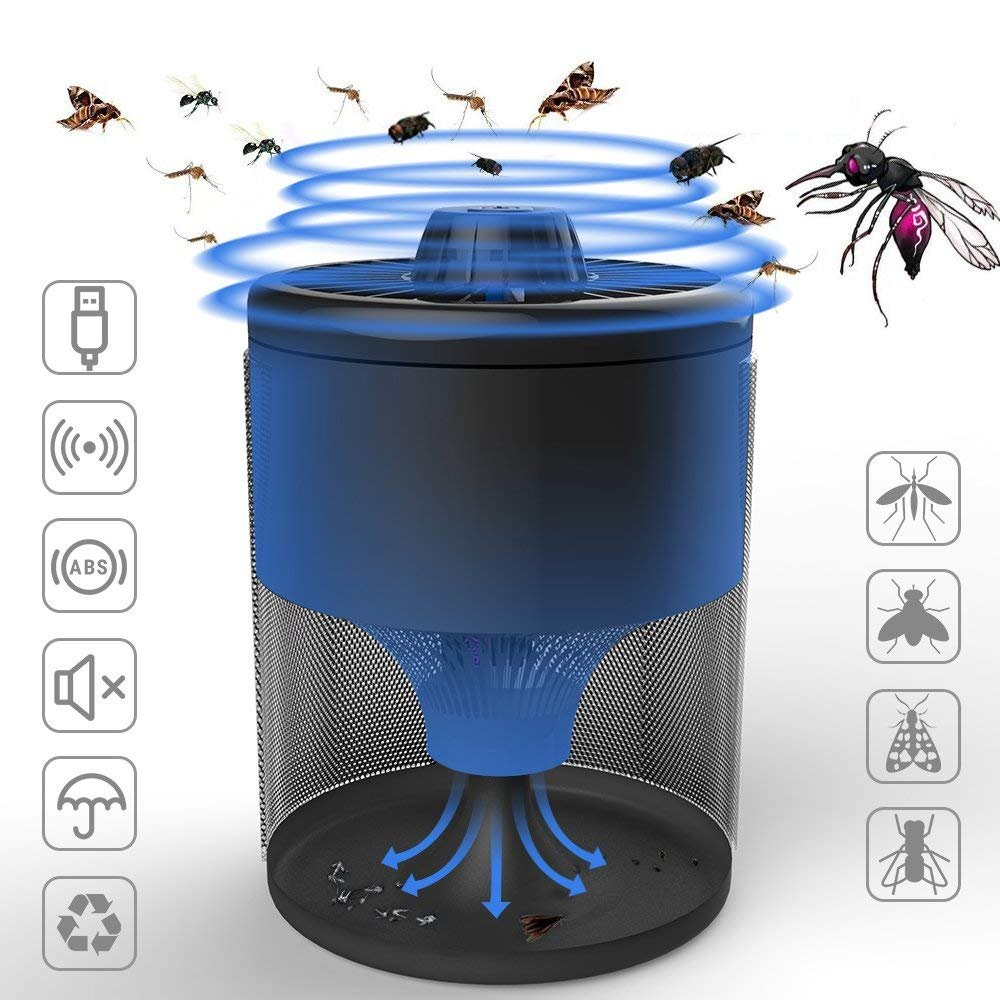 Bug Zapper Electronic Insect Killer Mosquito Killer Fly Killer Mosquito Trap Non-Toxic USB Super-Bright LED Light to Zap in The Dark for Home Indoor and Outdoor
