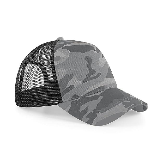 5f34ece8839 Beechfield Retro Camouflage Snapback Trucker Cap (One Size) (Arctic Camo)