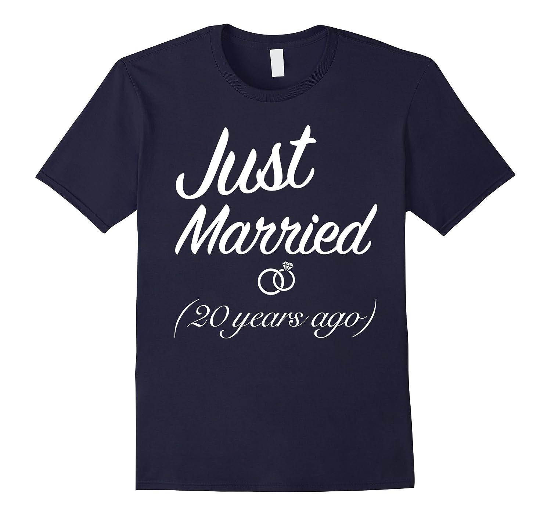 Wedding Anniversary Gift Just Married 20 Years Ago T-Shirt-Art