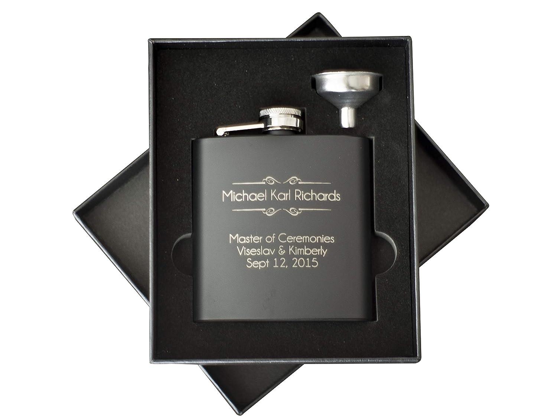 全日本送料無料 Custom - Engraved Set Black Flask 2pc Gift Set - Personalized Gift with Any Text by The Personalized Gift Company B014EENXWY, キョウタナベシ:07b861db --- woxpedia.com