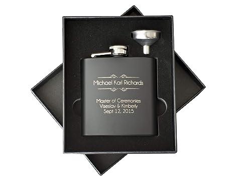 amazon com personalized flask set engraved custom flasks