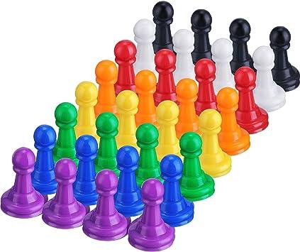 32 Piezas de Peones de Plástico de Multicolor Juego de Tablero, 1 Pulgada Peones Marcadores de Mesa Componentes: Amazon.es: Juguetes y juegos