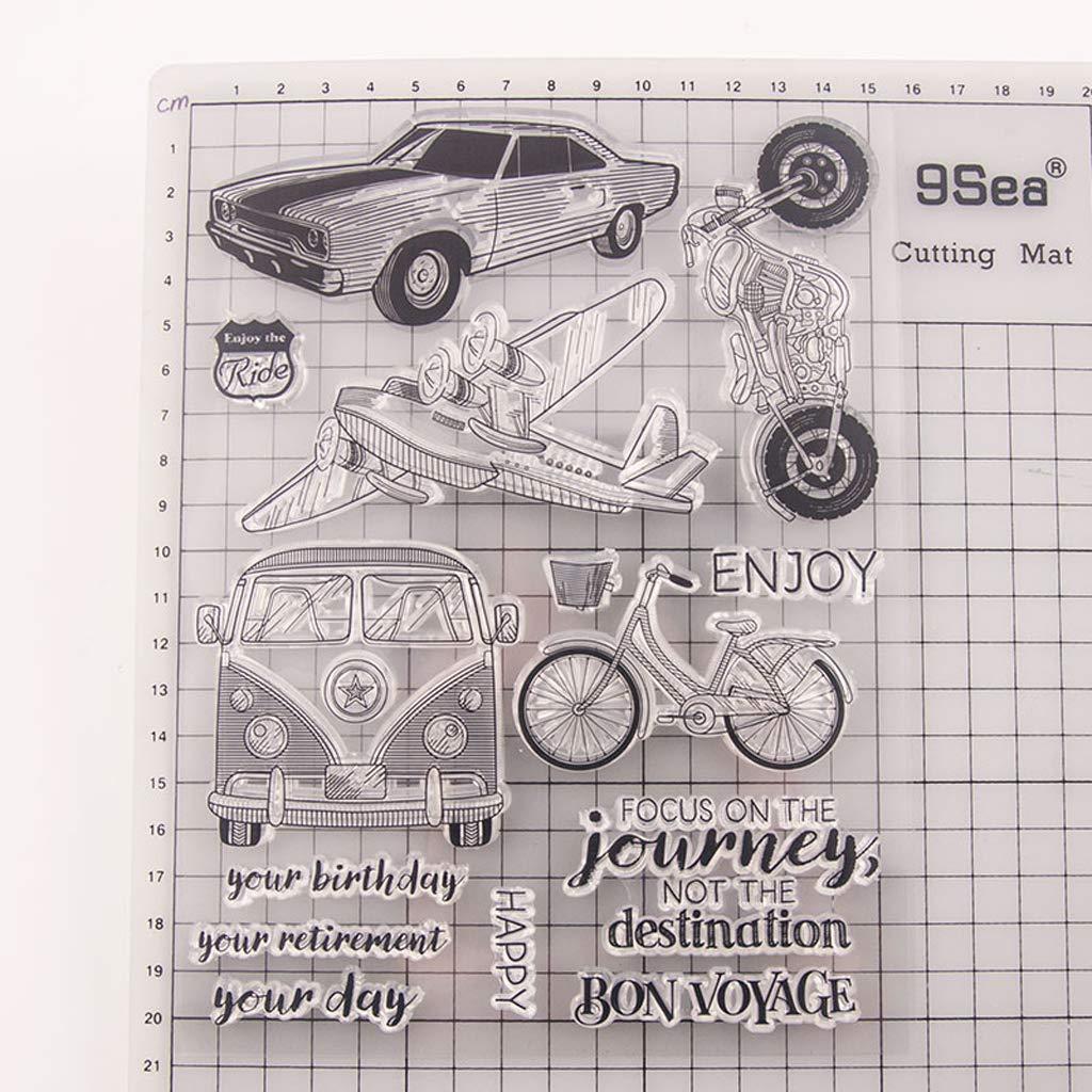 Huafi Transport Silikon Clear Seal Stempel DIY Scrapbooking Pr/ägung Fotoalbum Dekorative Papierkarte Handwerk Kunst Handgemachtes Geschenk