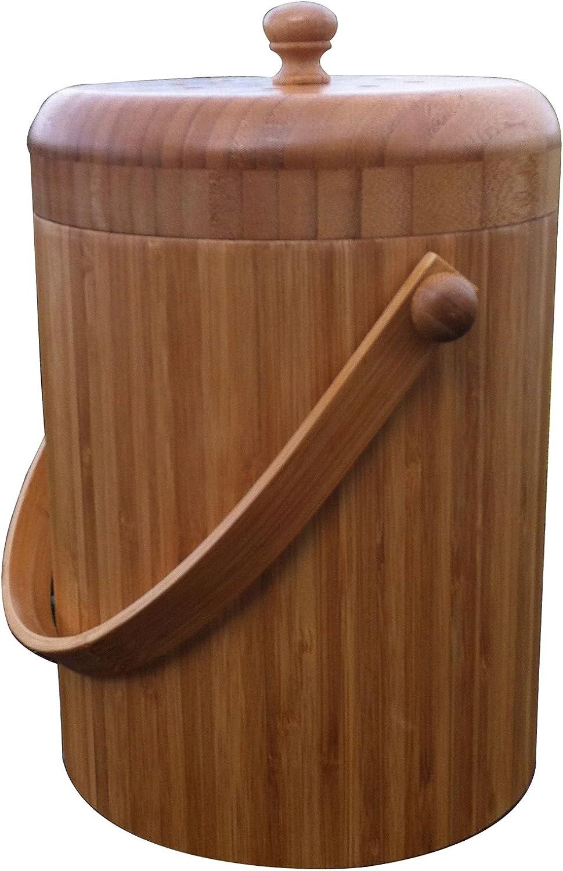 Eco-cycle VermiTek Bamboo Compost Pail, 3 Quart