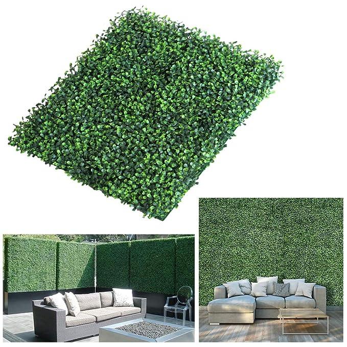LITA - Paneles de privacidad para Valla de Madera de boj, realistas y Gruesos, 20 x 20 Pulgadas, protección UV, decoración de Pared para Interiores y ...