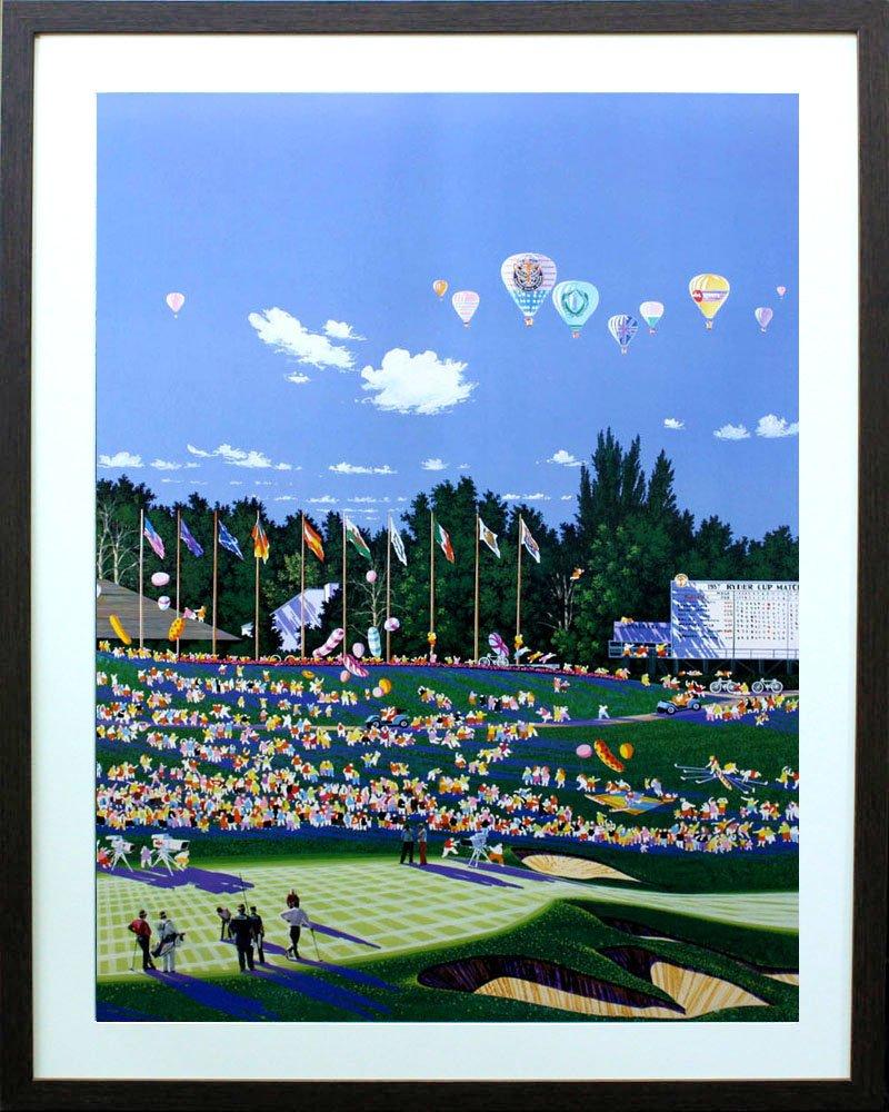アートショップ フォームス ヒロヤマガタ「ライダーカップ」アートポスター展示用フック付き B00N3QZUJY
