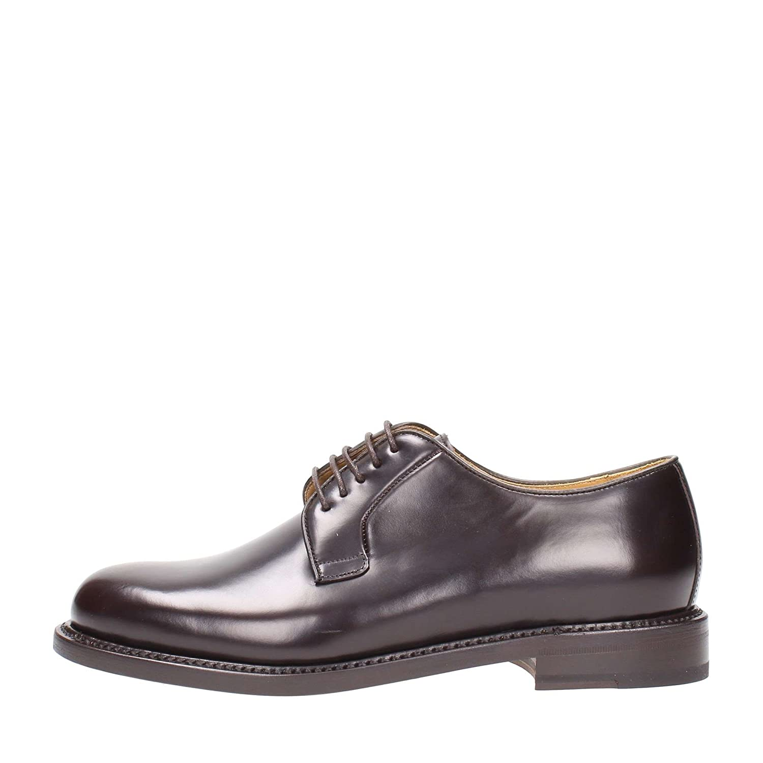TALLA 6. Shoes IN Brown Leather, Hombre.