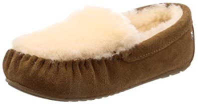 EMU Australia Womens Moccasins Slippers Cairns Reverse Fur Sheepskin Size 5