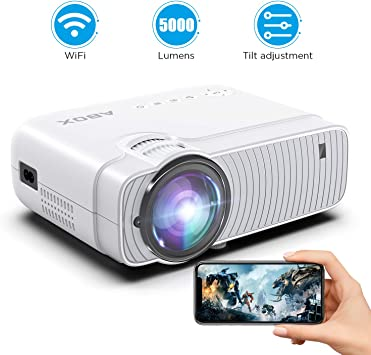 ABOX WiFi Proyector 5000 Lúmenes Cine en Casa, LED Video Mini ...