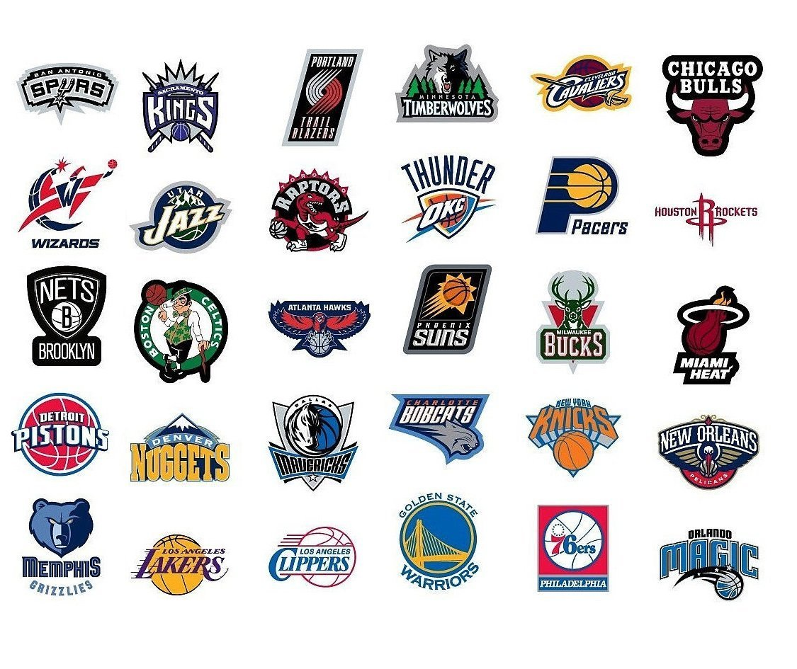 Amazon com nba decal stickers basketball new team logo designs licensed complete set of all 30 teams everything else