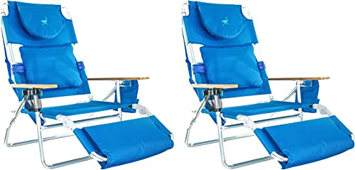 Ostrich Deluxe Padded 3-N-1 Outdoor Lounge Reclining Beach Chair