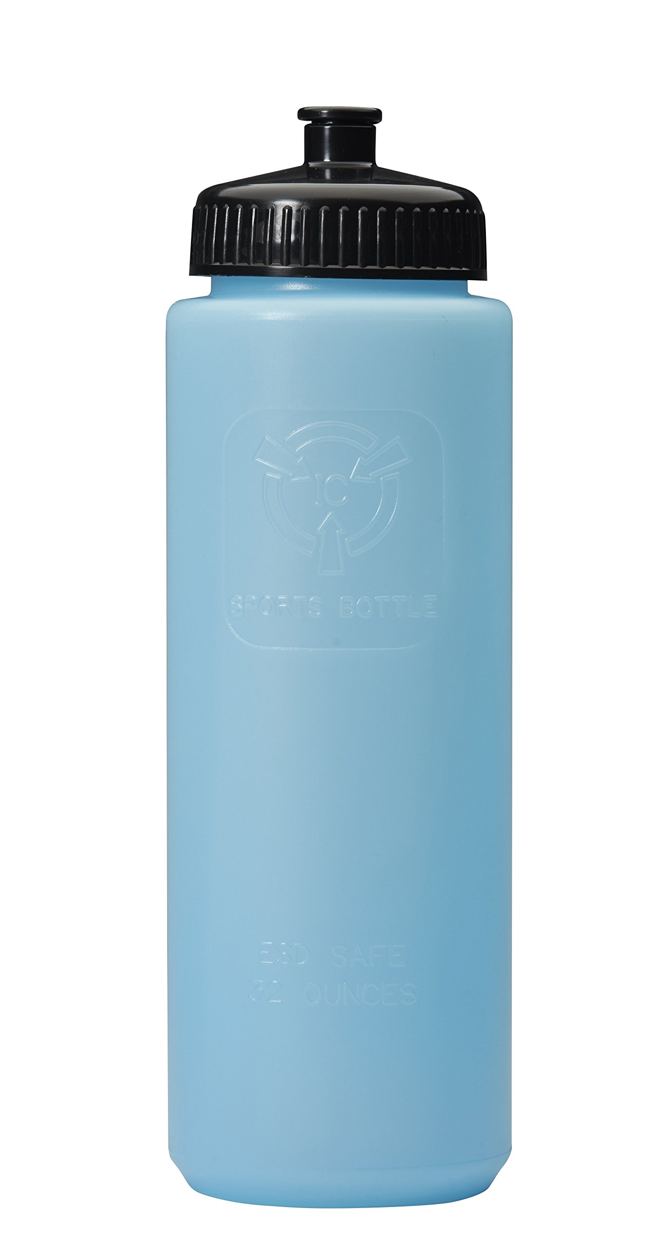Sports Bottle with Drinking Spout Top, FDA and ESD safe, Static dissipative, Blue Bottle. Average surface resistivity of 10^9 to 10^10. Will dissipate a charge of 5000 volts in +/-2 secs. 32oz 12 Pack by R&R Lotion