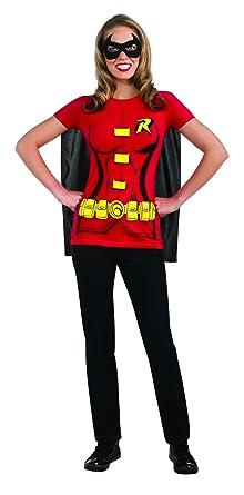 7b87057cc72 Amazon.com  Female Superhero T-Shirt Costume - X-Large - Dress Size 16-22   Clothing