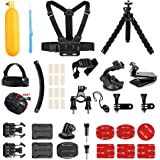 AKASO Outdoor Sports Action Camera Accessories Kit 14 in 1 for Gopro Hero AKASO EK7000 Brave 4 V50 CAMPARK Go Pro Hero 5 in Swimming Any Other Outdoor Sports