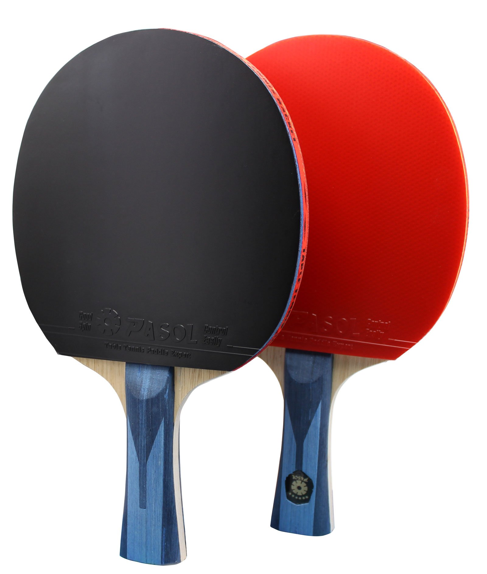 2- Player PASOL 6 Star Superior Ping Pong Paddles - Great Professional Tournament Table Tennis Racket with Carry Bag