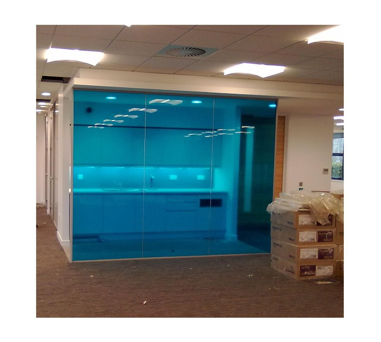 Active Film Transparent Colourful Window Film Self Adhesive- Optically Coloured Clear Blue Tint 1m x 76cm (30
