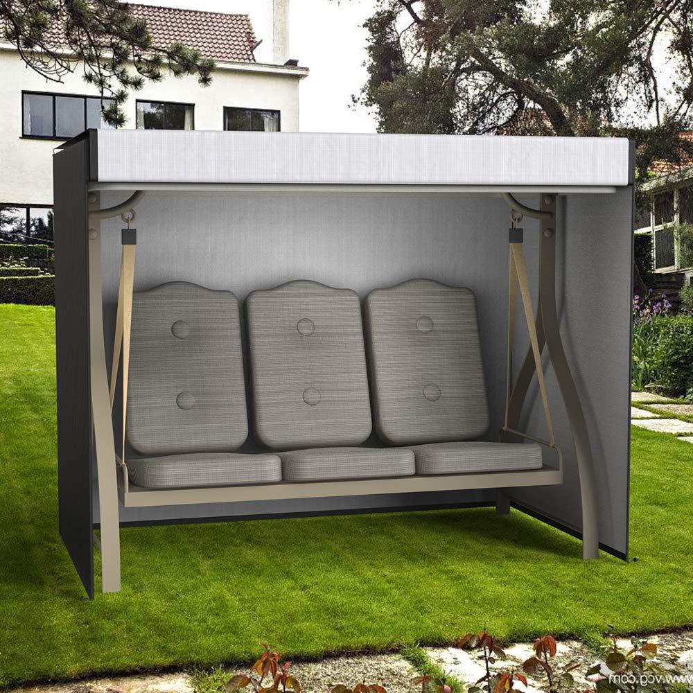 Mobilier De Jardin Wrighteu Housse Balancelle Avec Auvent étanche  Couverture De Siège Meuble 3 Places Hamac ...