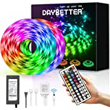 DAYBETTER Led Strip Lights 32.8ft Waterproof Flexible Tape Lights Color Changing 5050 RGB 300 LEDs Light Strips Kit with…