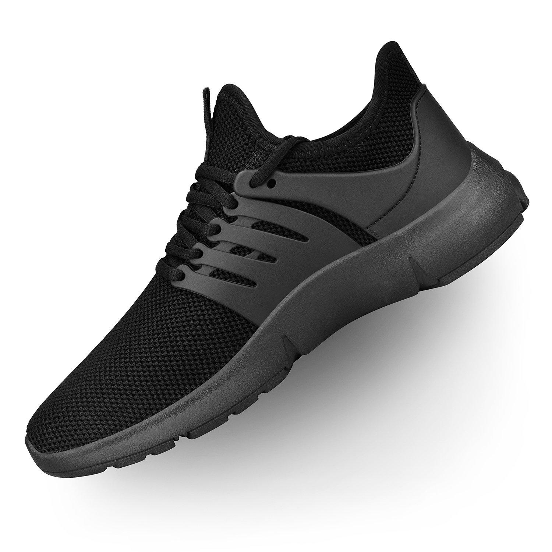 Troadlop Womens Running Sneakers Ultra Lightweight Breathable Mesh Walking Athletic Shoes Black 7 B(M) US