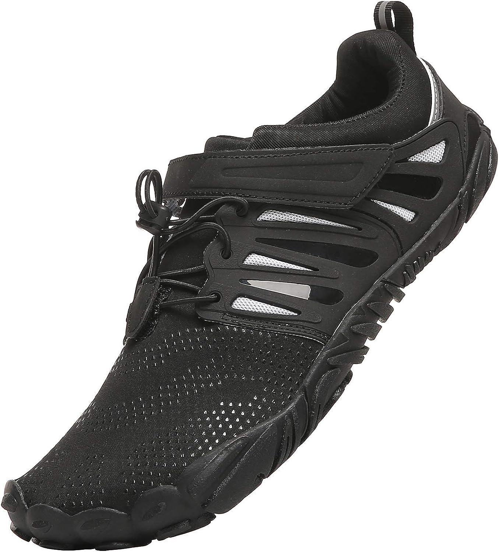 PAGCURSU Mens Minimalist Trail Running Barefoot Trainers Shoes Wide Toe Box
