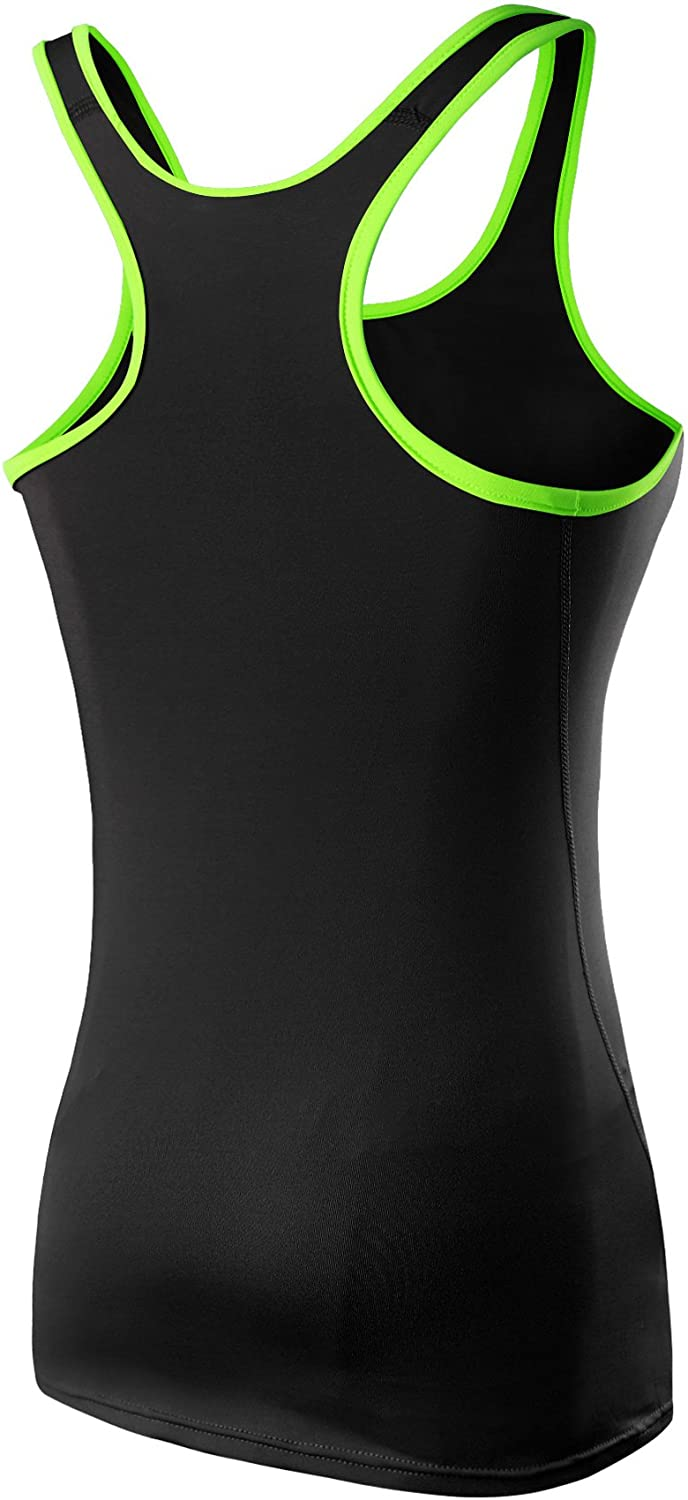 Neleus Womens 3 Pack Compression Base Layer Dry Fit Tank Top