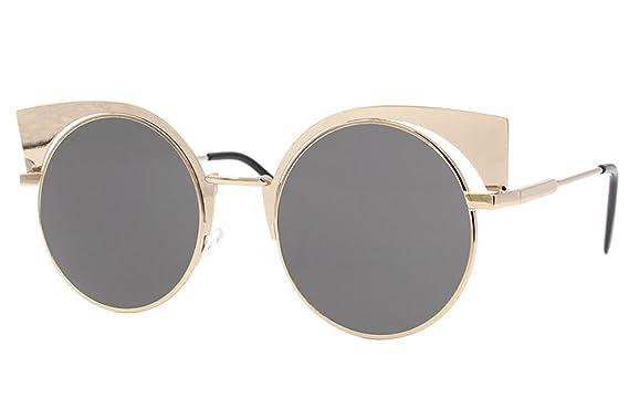 Cheapass Sonnenbrille Damen Gold Grau UV400 Designer-Brille Metall Damen Frauen tolx2C