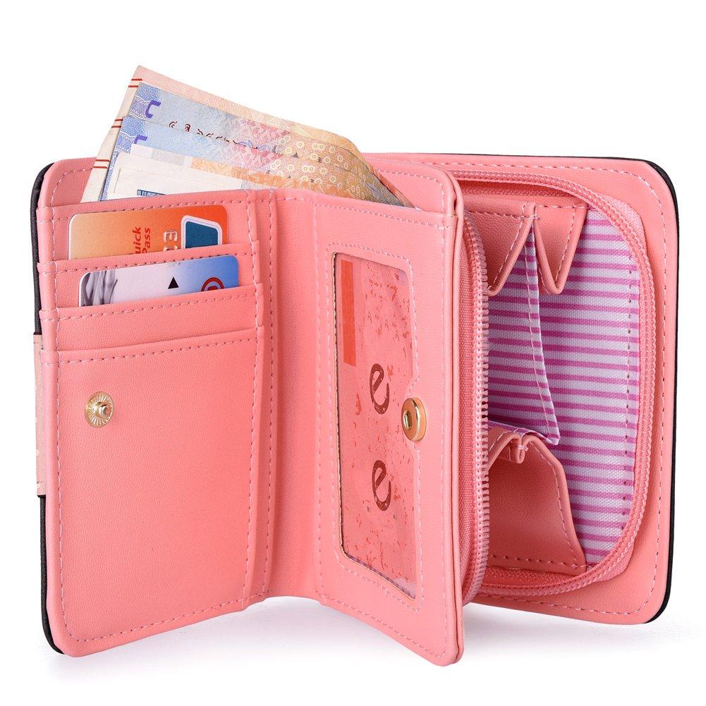 Vbiger Girls Wallet Cute Cat Wallet Kitty Pattern Purse Coin Holder