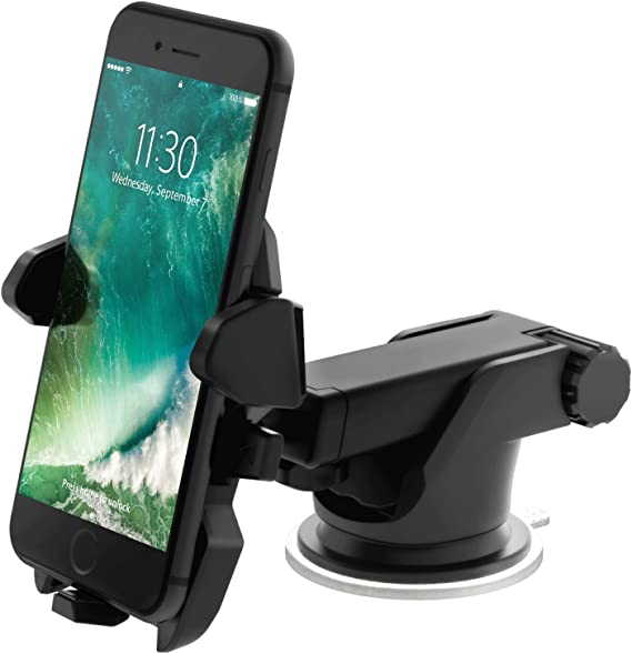 Car Phone Mount Cell Phone Holder for Car Air Vent//Dashboard//Windshield 2019 Newest Compatible with iPhone Xs Max R X 8 Plus 7 Plus 6S Samsung Galaxy S9 S8 Edge and Other Phone 4.7-6.5 inch Black