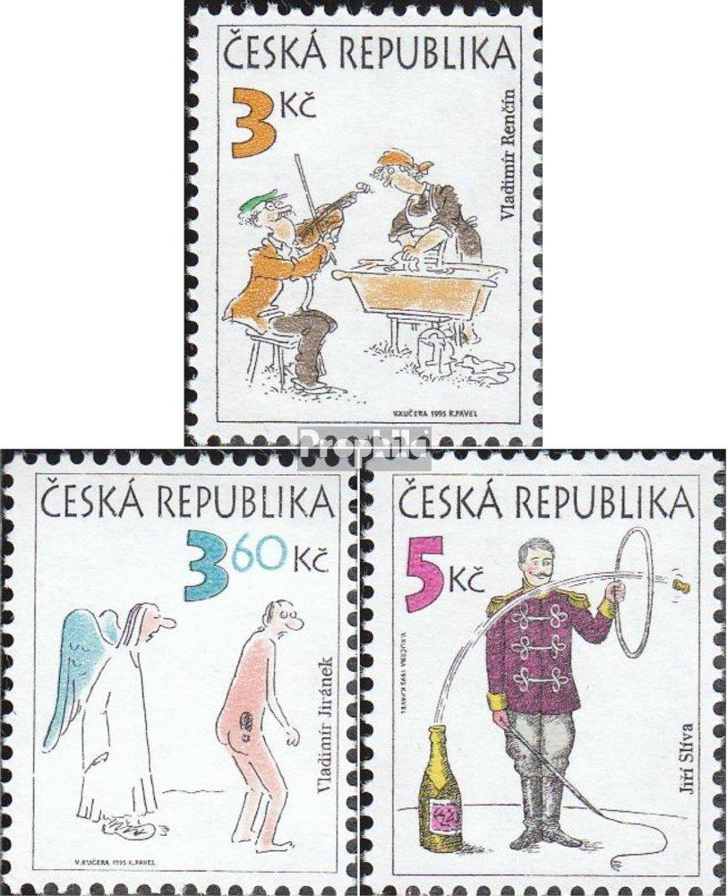 1995 Humor Francobolli per i Collezionisti Completa Edizione Fumetto Prophila Collection Repubblica Ceca 84-86