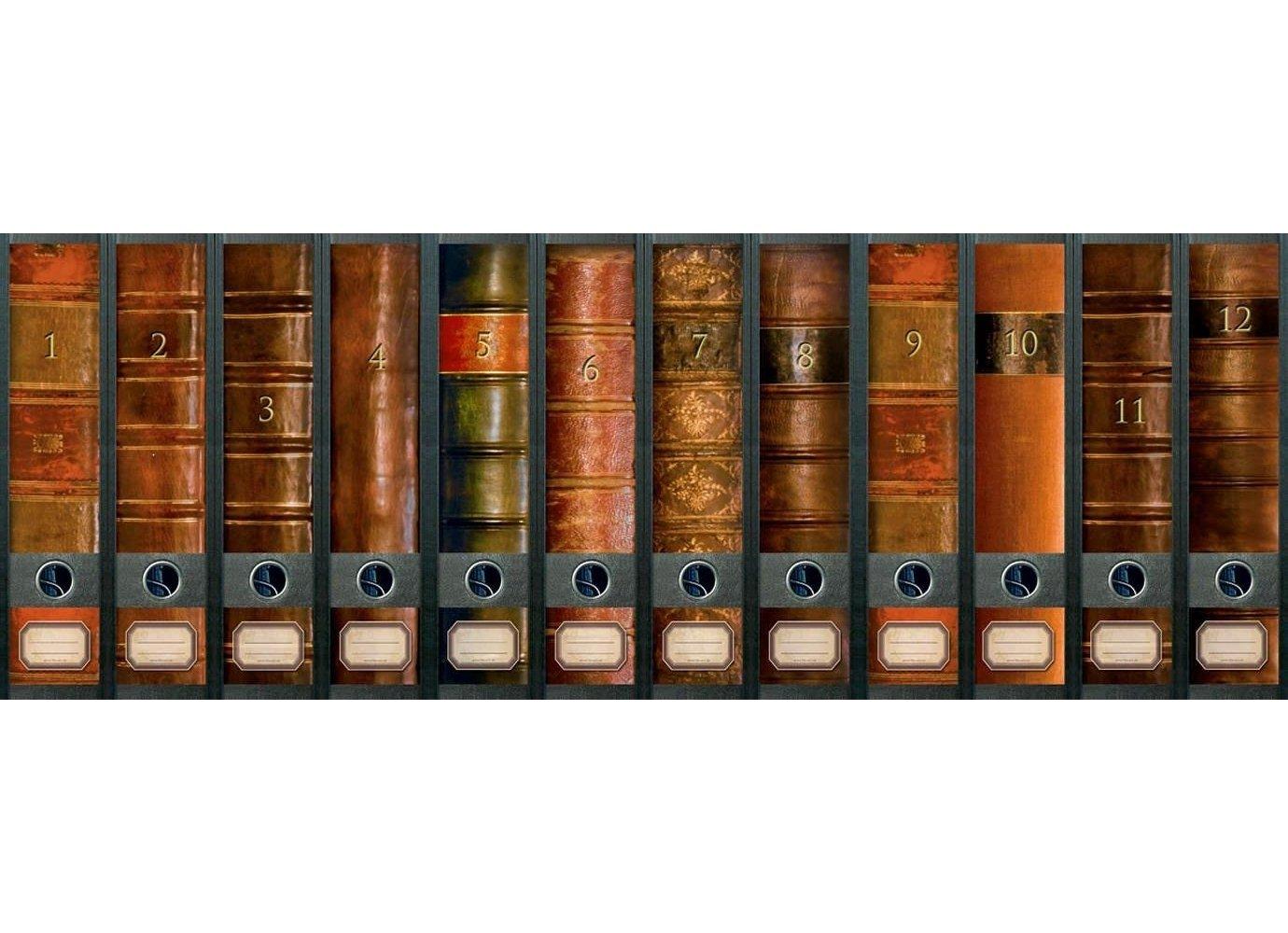 Archivo - diseño de arte pegatinas para 12 grandes carpetas A4 - tema