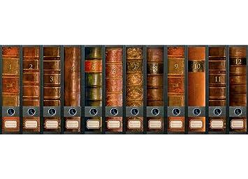 """Archivo - diseño de arte pegatinas para 12 grandes carpetas A4 - tema """"folio"""""""