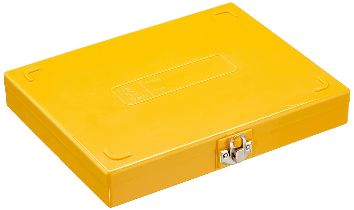 Neolab E 0040  Slide Boxes Economy  –   Yellow (Pack of 5) E-0040