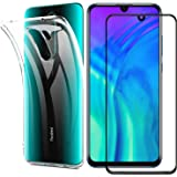 Compatible with for Redmi Note 8 Pro Case Redmi Note 8 Pro Screen Protector,2 in 1 Transparent Soft TPU Phone Case + Full Tempered Glass Screen Protector for Redmi Note 8 Pro (Transparent)
