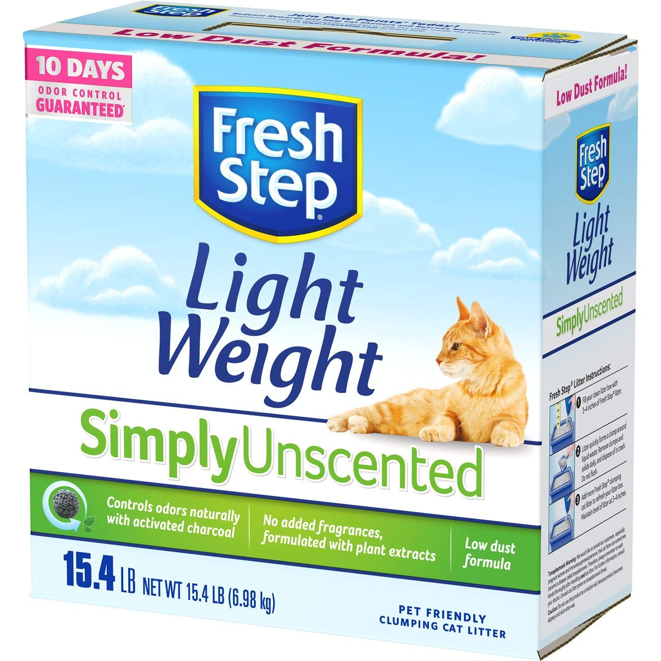 Fresh Step Unscented Lightweight Litter, Clumping Cat Litter